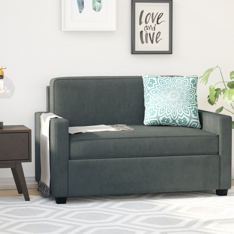 mercury row cabell twin sleeper sofa reviews wayfair. Black Bedroom Furniture Sets. Home Design Ideas