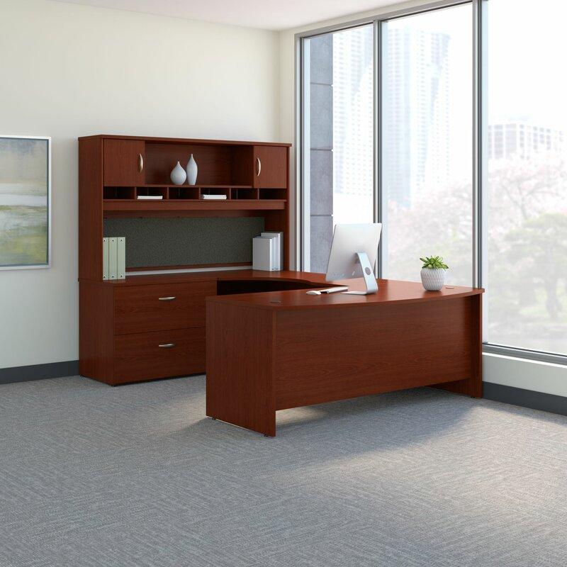 Bush Business Furniture Series C U Shaped Desk Office