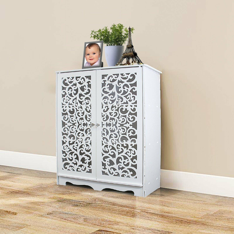 sc 1 st  Wayfair & Bungalow Rose 10 Pair Shoe Storage Cabinet Sculpture Work Door | Wayfair