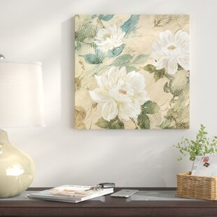 White flower painting wayfair white flowers ii painting print on canvas mightylinksfo