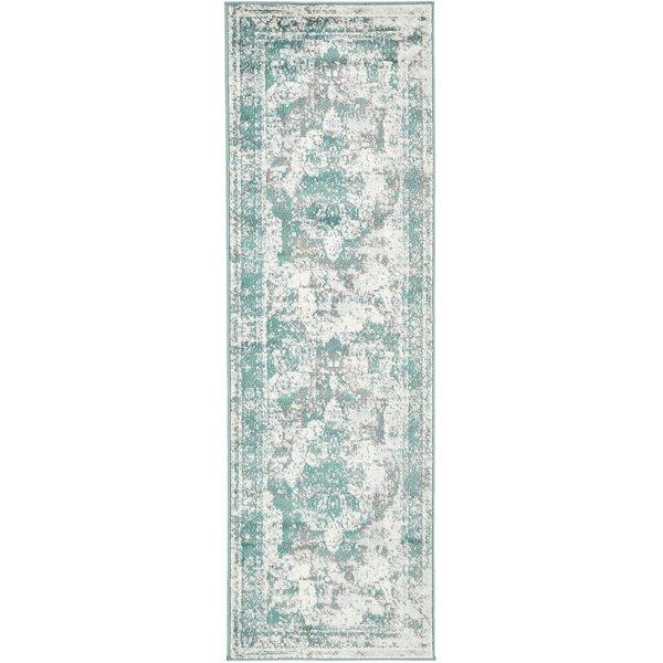 Mistana Brandt Turquoise Gray Area Rug Reviews Wayfair
