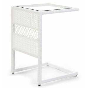 Easy Care Resin Wicker Pull Up C Table