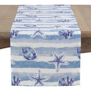 Ararinda Watercolor Waves Table Runner