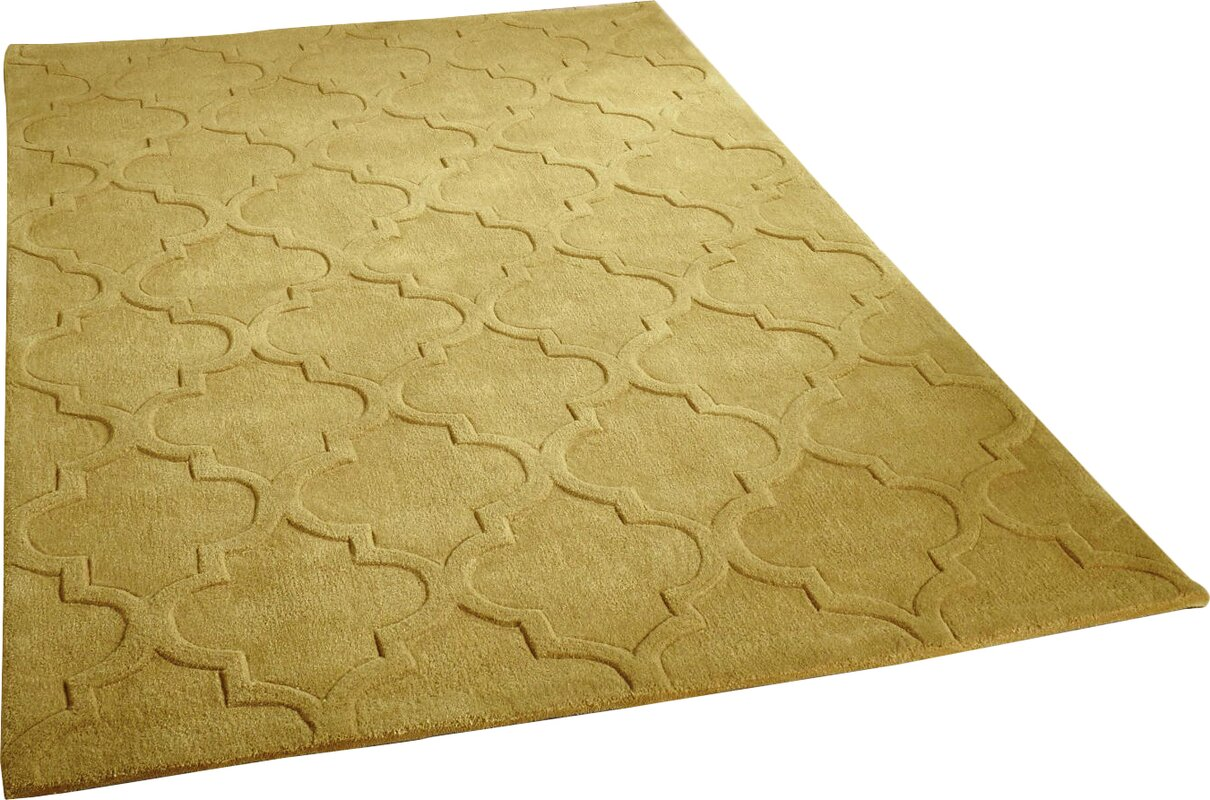 Latitude Vive Asny Hand Tufted Mustard Area Rug Amp Reviews