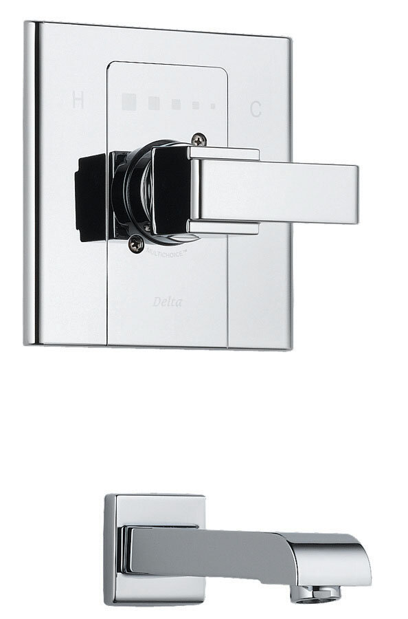 Delta Urban - Arzo Single Handle Wall Mount Tub Only Faucet ...