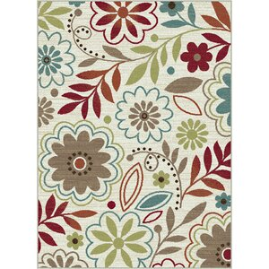 Brightling Ivory Floral Area Rug