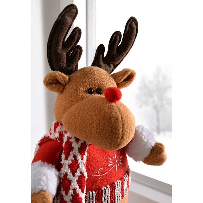 Free Standing Christmas Reindeer Decoration with Extendable Legs