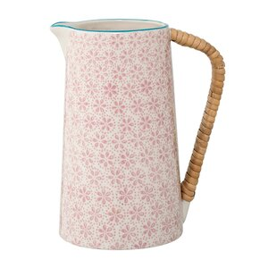 Pink Ceramic Pitcher