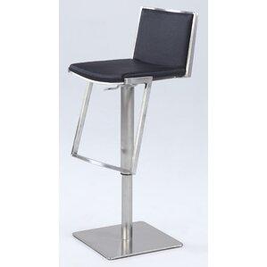 Jorman Adjustable Height Bar Stool by Orren Ellis