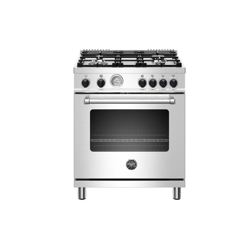 """Bertazzoni Master Series 30"""" Free-standing Gas Range with Griddle"""