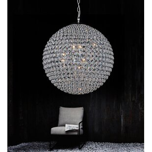 Crystal globe chandelier wayfair globe 9 light crystal chandelier aloadofball Gallery