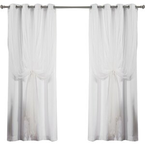 Mix and Match Tulle Semi-Sheer Grommet Curtain Panels (Set of 2)