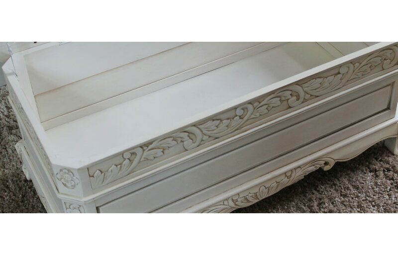 International Caravan Windsor Antique White Wood Indoor Bench ...