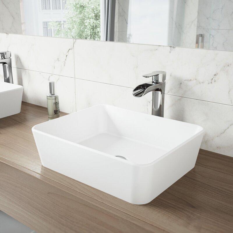 Salle de bain lavabo vasque rectangulaire Marigold