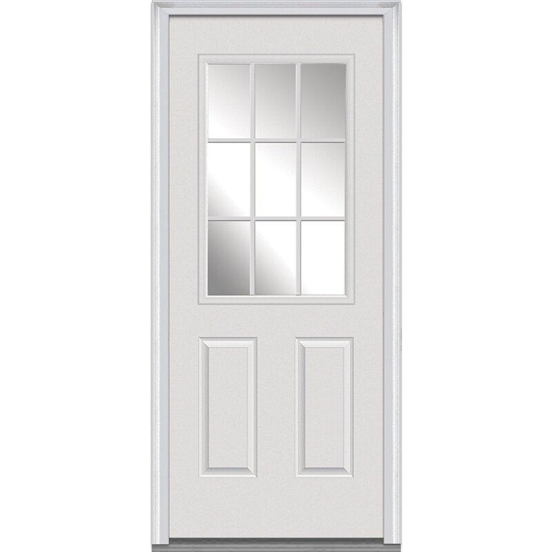 Verona Home Design 9 Lite Fiberglass Smooth Primed Prehung Front