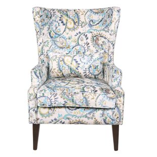 Godfrey Paisley Wingback Chair