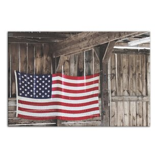 American Flag Barn Photographic Print On Wrapped Canvas