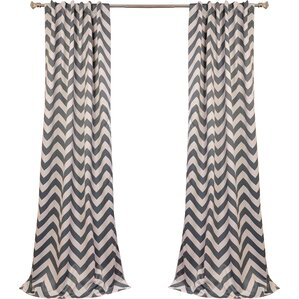 Angel Chevron Blackout Thermal Rod Pocket Single Curtain Panel