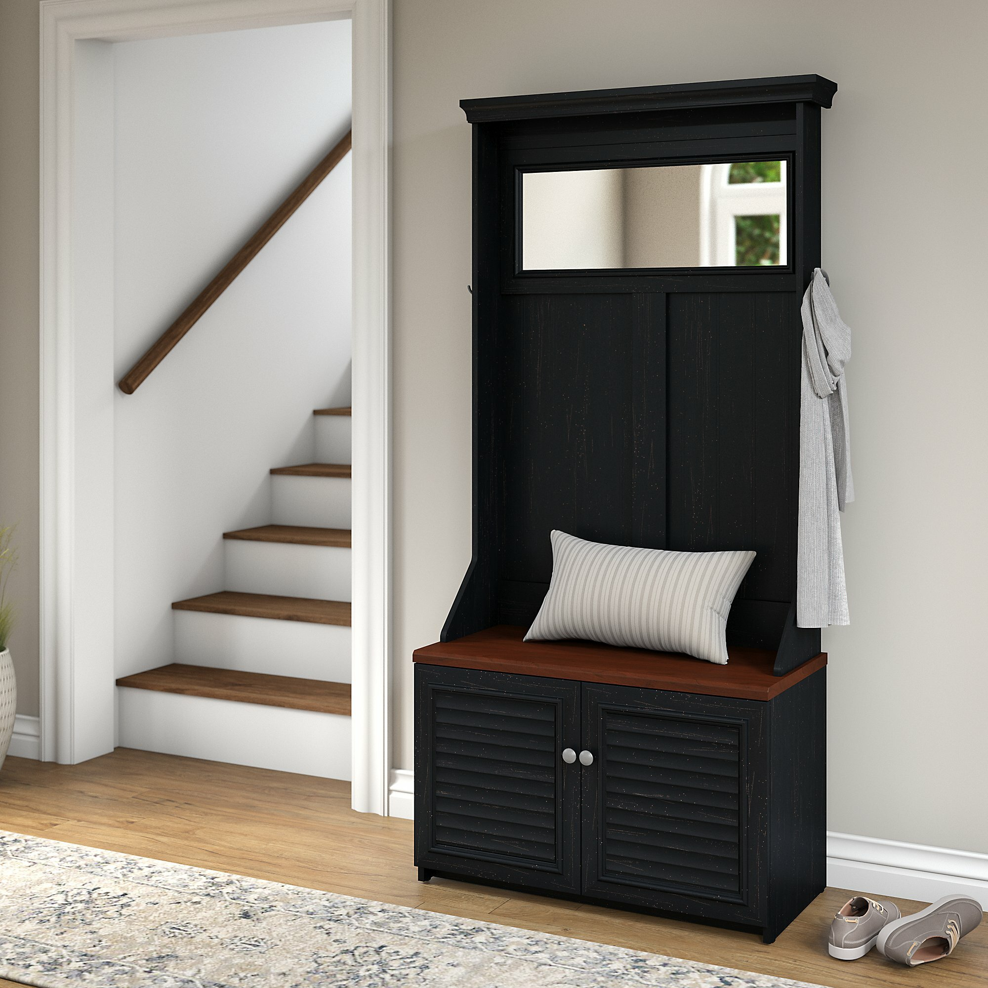 Beachcrest Home Oakridge Hall Tree With Shoe Storage Bench Wayfair - Oakridge bedroom furniture