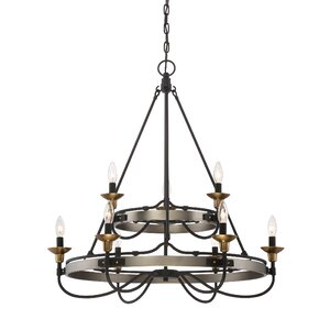 JMill 9-Light Candle-Style Chandelier