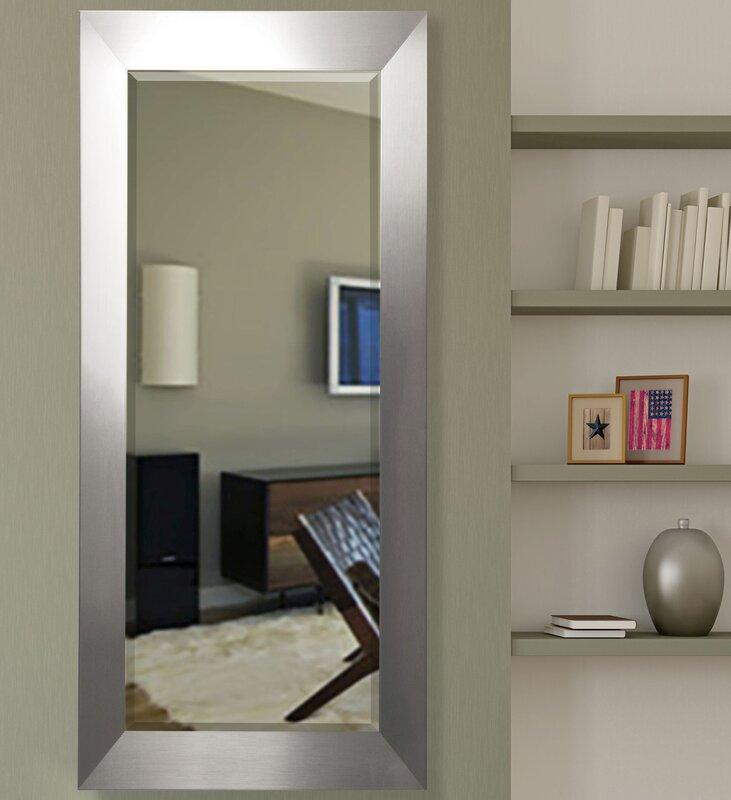 Silver Wall Mirrors latitude run bahamas silver wall mirror & reviews | wayfair