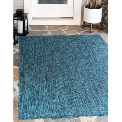 New Haven Teal  Area Rug Andover Mills Rug Size: 5' x 8'