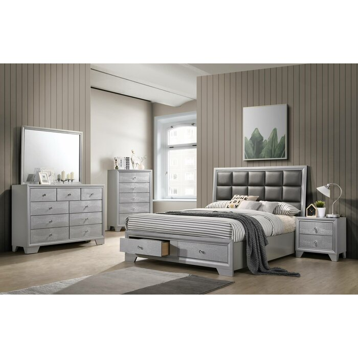 House of Hampton Sciortino King Platform 5 Piece Bedroom Set | Wayfair