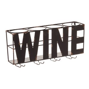 Doswell 4 Bottle Wall Mounted Wine Rac..
