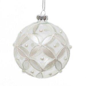Petals and Pearl Ball Ornament