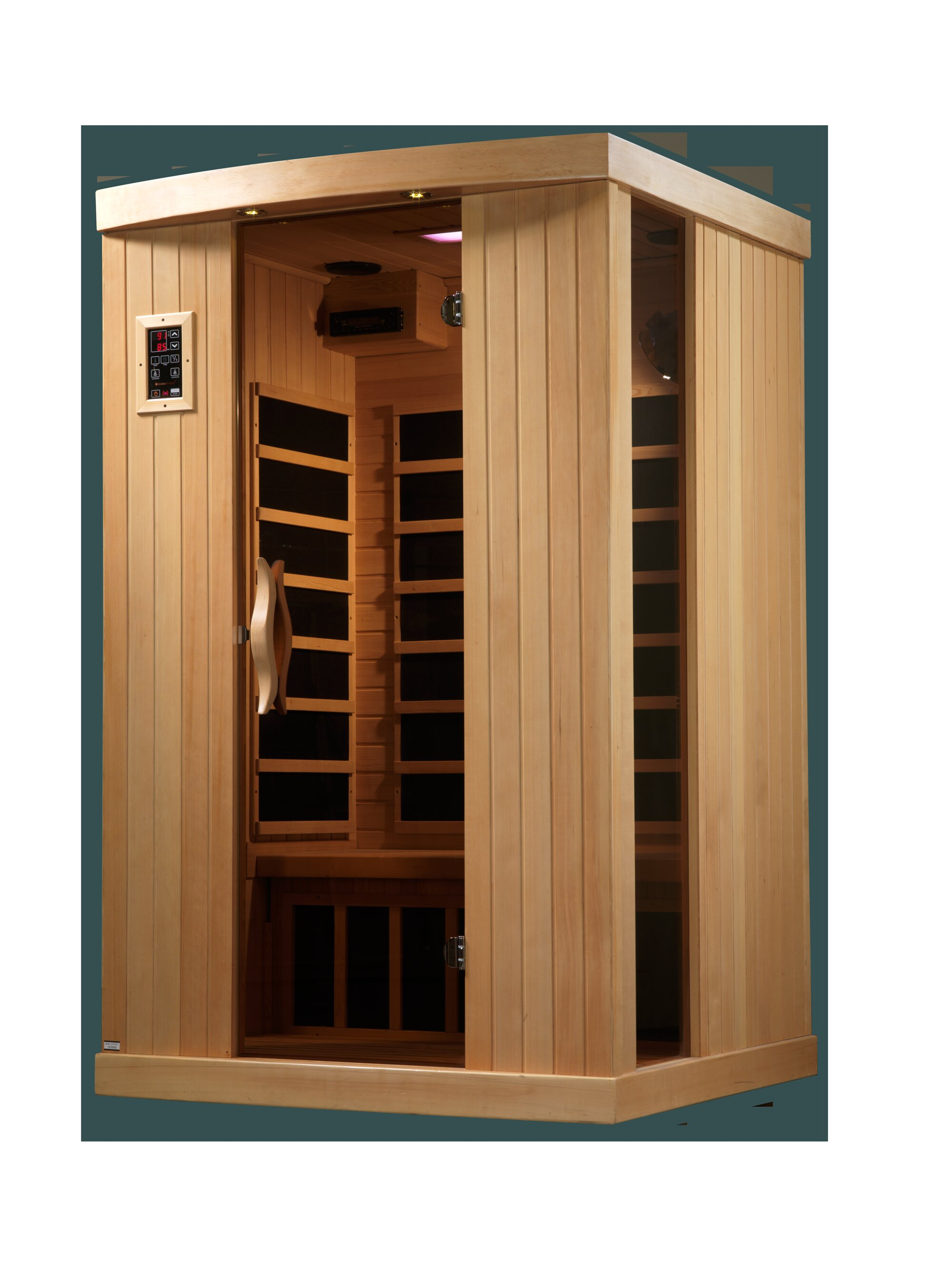 Nice Dynamic Infrared Puretech Low EMF 2 Person FAR Infrared Sauna U0026 Reviews |  Wayfair