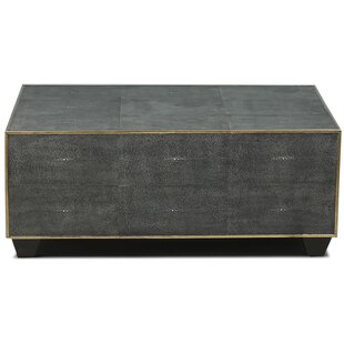Leather Shagreen Coffee Table