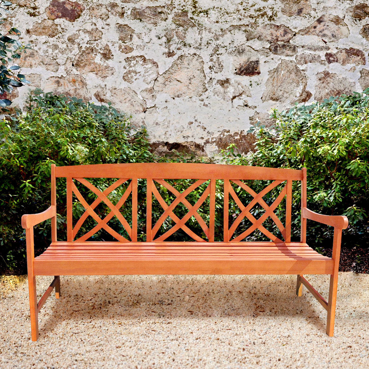Phenomenal Avoca Wood Garden Bench Gmtry Best Dining Table And Chair Ideas Images Gmtryco