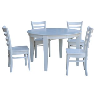 Dunwich 5 Piece Extension Solid Wood Dining Set