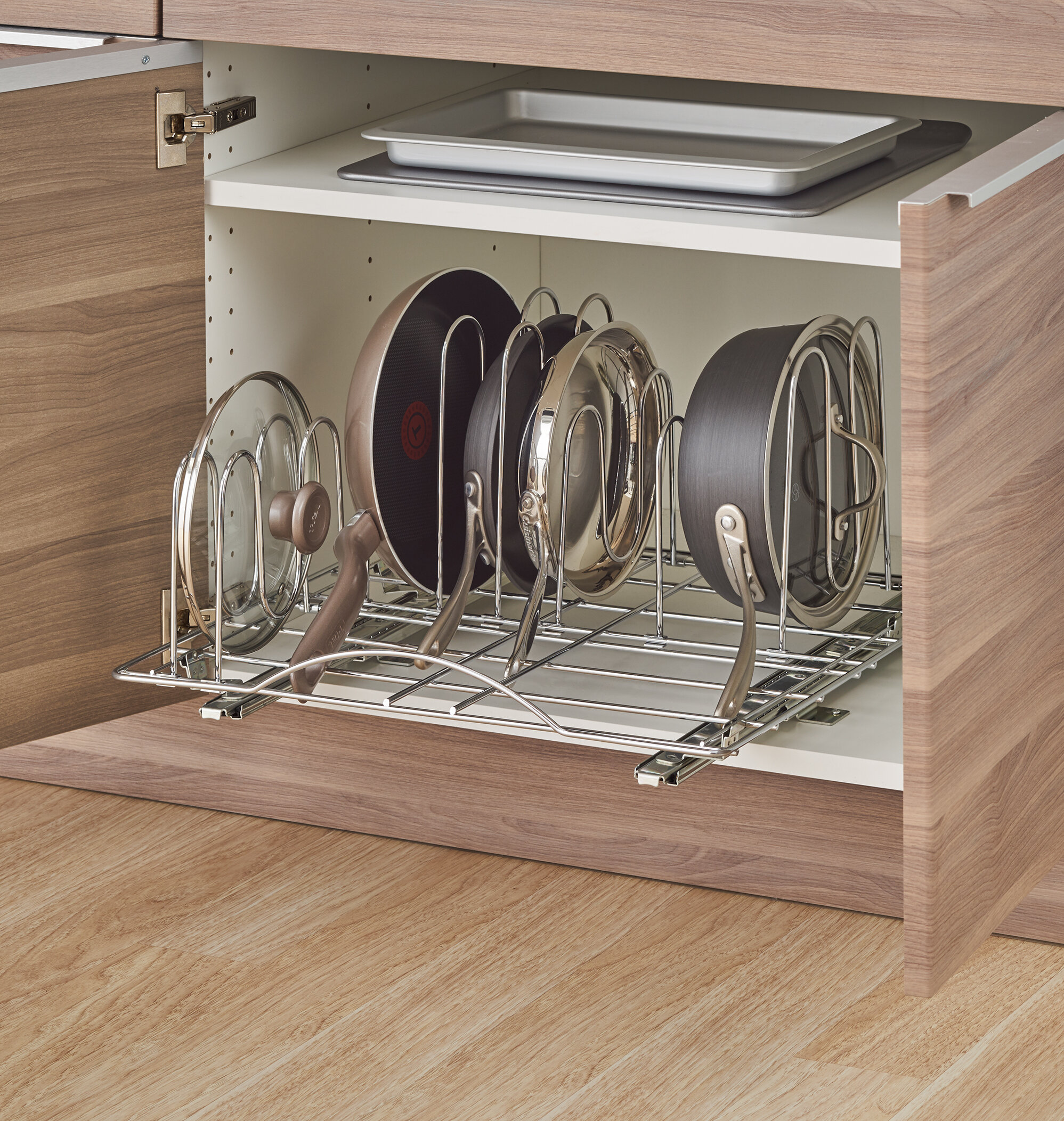 Trinity Sliding Pot Organizer Pull Out Kitchenware Divider U0026 Reviews |  Wayfair