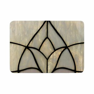 Philip Tulip Stained Glass Floral Digital Memory Foam Bath Rug