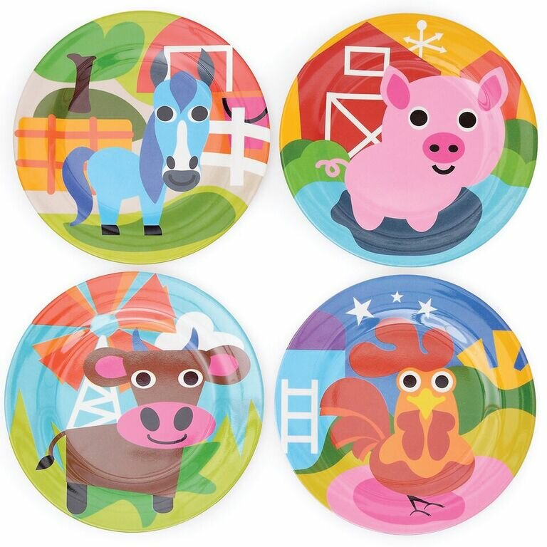 Farm 8.1  Melamine Kids Plate Set  sc 1 st  Wayfair & French Bull Farm 8.1