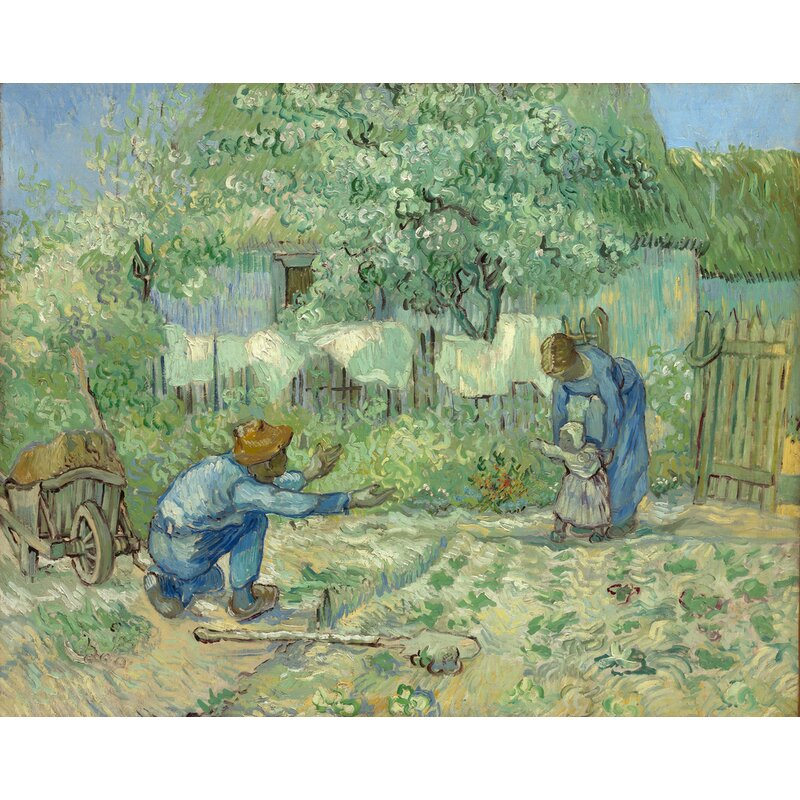 Buy Art For Less The First Steps After Millet1890 By Vincent Van