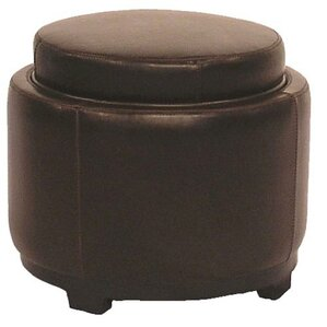 Jeddo Leather Ottoman by R..