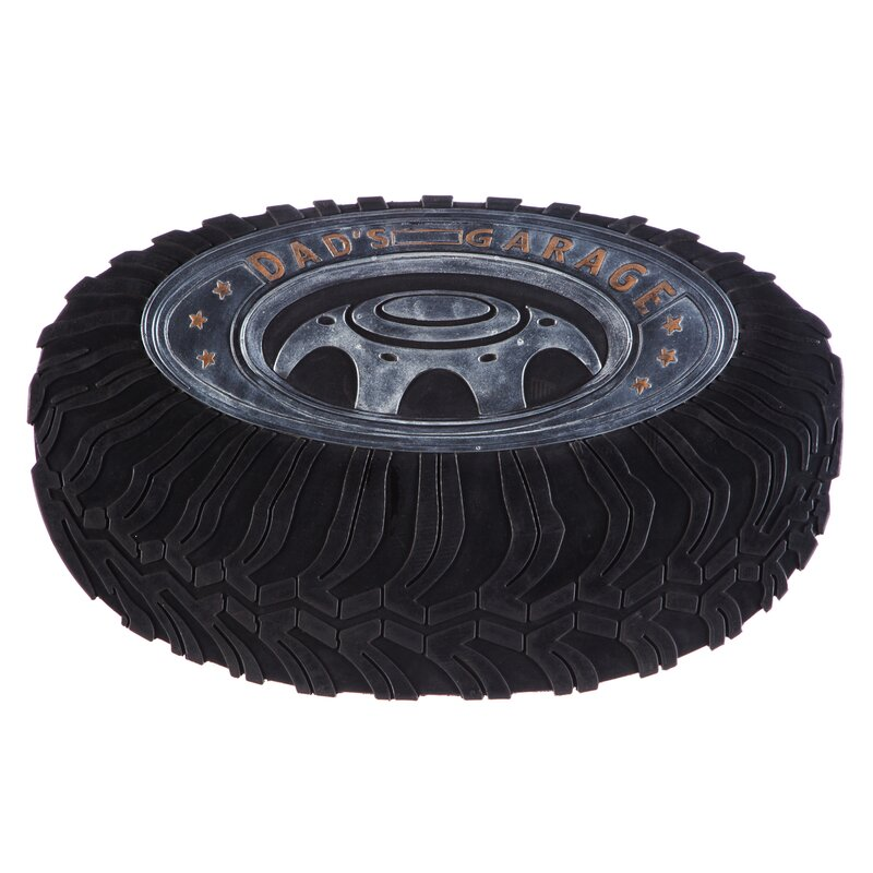 DeLussey Dadu0027s Garage Tire Rubber Doormat