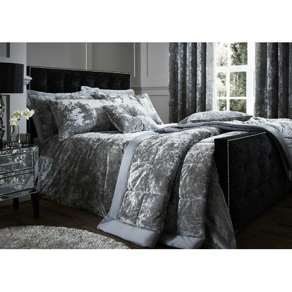 16d347afc7a64 Grey Velvet Bedspread | Wayfair.co.uk