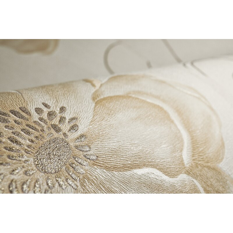 "Essence Sofia 33' x 20"" Floral and Botanical Wallpaper"