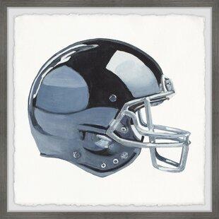 Vanessa Football Helmet Framed Art by Viv   Rae