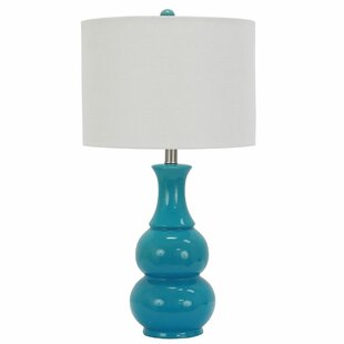 turquoise table lamp contemporary quickview turquoise lamps wayfair
