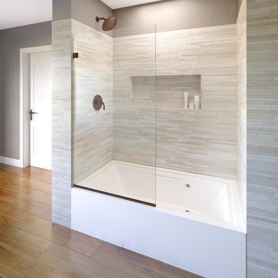 """Basco Celesta 34"""" x 60"""" Frameless Tub Door  Finish: Oil Rubbed Bronze"""