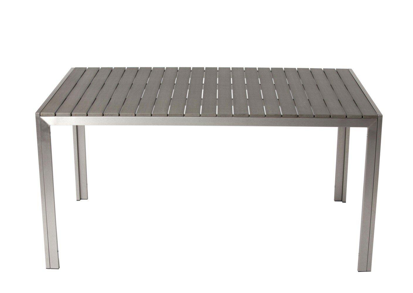 Orren Ellis Latham Sleek And Modish Trendy Anodized Aluminum Dining Table |  Wayfair