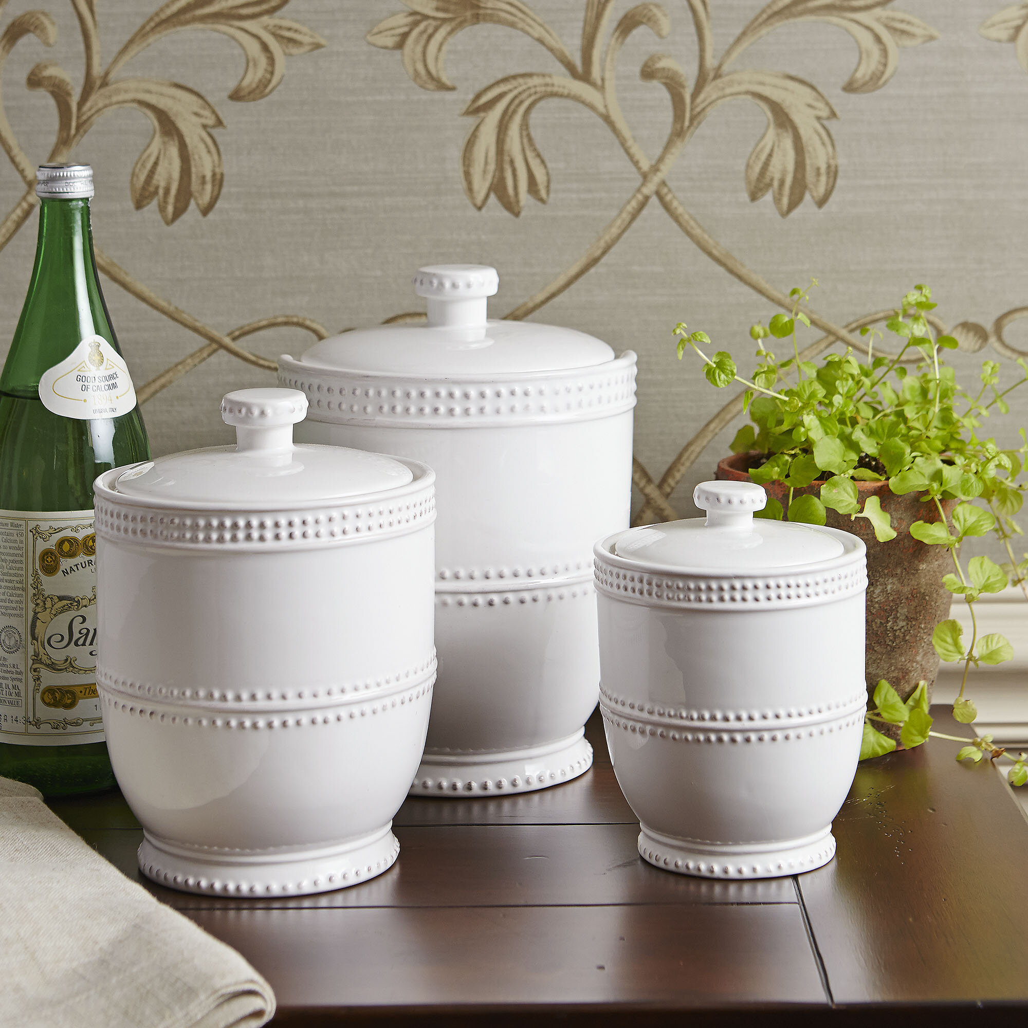 Milford 3 Piece Kitchen Canister Set & Reviews | Joss & Main