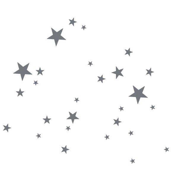 Silver Star Wall Decal   Wayfair