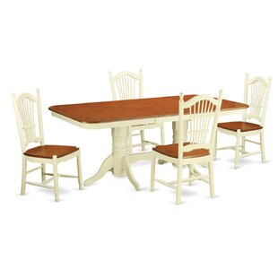 Pillsbury Modern 5 Piece Wood Dining Set
