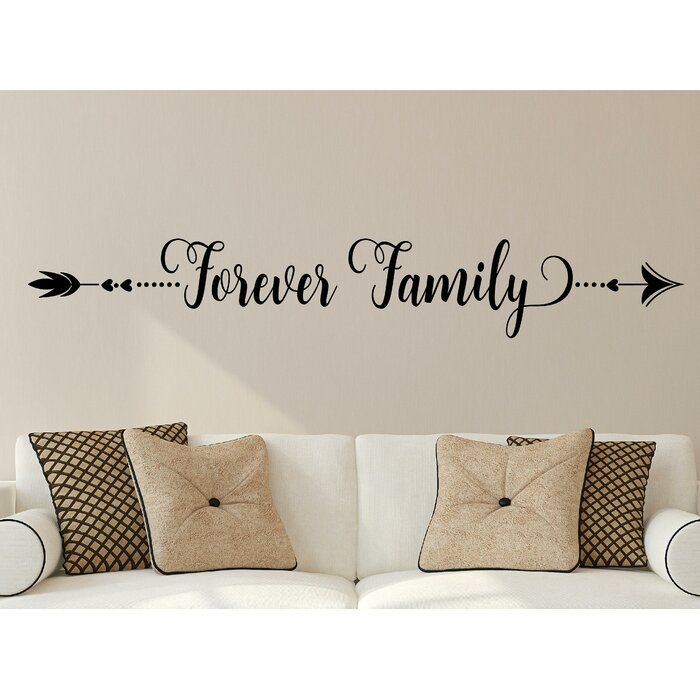 enchantingly elegant forever family vinyl wall decal | wayfair.ca
