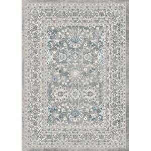 Aurore Traditional Style Ash Area Rug